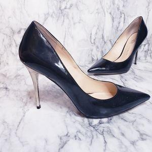 Rock & Republic Stilettos- Size 9, Black & Silver